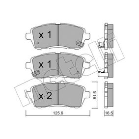 Bremsbelagsatz, Scheibenbremse Dicke/Stärke 1: 16,5mm mit OEM-Nummer 24285