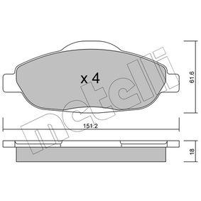 2014 Peugeot 3008 Mk1 1.6 HDi Brake Pad Set, disc brake 22-0804-0