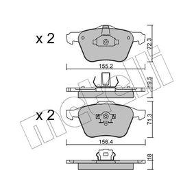 Bremsbelagsatz, Scheibenbremse Höhe 2: 71,3mm, Dicke/Stärke 2: 18,0mm, 19,5mm mit OEM-Nummer 2 742 85