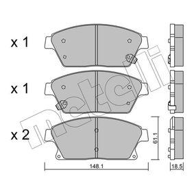 Bremsbelagsatz, Scheibenbremse Dicke/Stärke 1: 18,5mm mit OEM-Nummer 542115