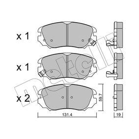 Bremsbelagsatz, Scheibenbremse Dicke/Stärke 1: 19,0mm mit OEM-Nummer 95 514 525