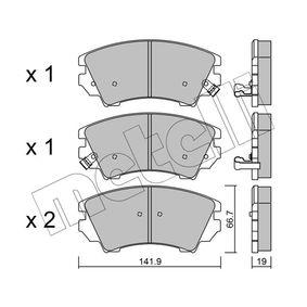 Brake Pad Set, disc brake Thickness 1: 19,0mm with OEM Number 22959104