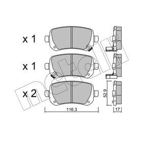 Bremsbelagsatz, Scheibenbremse Dicke/Stärke 1: 17,0mm mit OEM-Nummer 68029-887AA