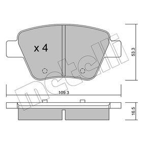 Bremsbelagsatz, Scheibenbremse Dicke/Stärke 1: 16,5mm mit OEM-Nummer 8P0 098 601P