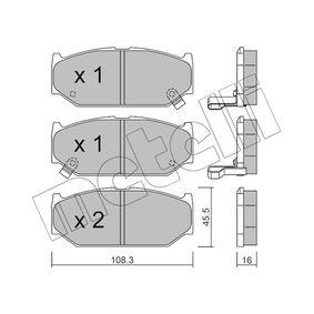 Juego de pastillas de freno 22-0897-0 SWIFT 3 (MZ, EZ) 1.3 (RS413) ac 2012