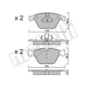 Bremsbelagsatz, Scheibenbremse Dicke/Stärke 1: 19,0mm, Dicke/Stärke 2: 20,0mm mit OEM-Nummer 3411 6798 190