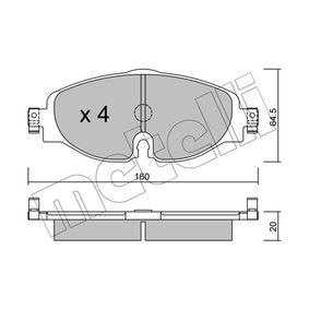Kit de plaquettes de frein, frein à disque Épaisseur 1: 20,0mm avec OEM numéro 5Q0 698 151 D