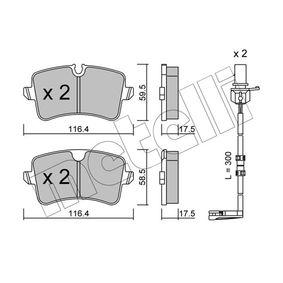 Bremsbelagsatz, Scheibenbremse Breite 2: 116,4mm, Höhe 2: 58,5mm, Dicke/Stärke 1: 17,5mm, Dicke/Stärke 2: 17,5mm mit OEM-Nummer 4H0.698.451D