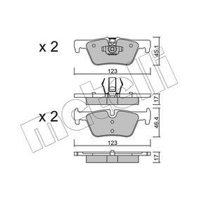 Bremsbelagsatz, Scheibenbremse Höhe 2: 46,4mm, Dicke/Stärke 1: 17,0mm, Dicke/Stärke 2: 17mm mit OEM-Nummer 34216873093