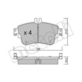 Bremsbelagsatz, Scheibenbremse Dicke/Stärke 1: 19,5mm mit OEM-Nummer A0084200420