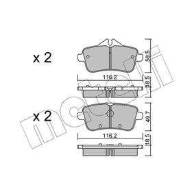 Bremsbelagsatz, Scheibenbremse Höhe 2: 49,7mm, Dicke/Stärke 2: 18,5mm mit OEM-Nummer 006 420 34 20