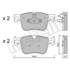 METELLI  22-0985-0 Bremsbelagsatz, Scheibenbremse Dicke/Stärke 1: 17,0mm
