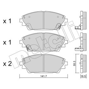 Brake Pad Set, disc brake Thickness 1: 16,5mm with OEM Number BHY1-33-28ZA