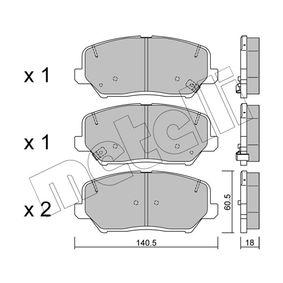 Bremsbelagsatz, Scheibenbremse Dicke/Stärke 1: 18,0mm mit OEM-Nummer 58101-2TA20