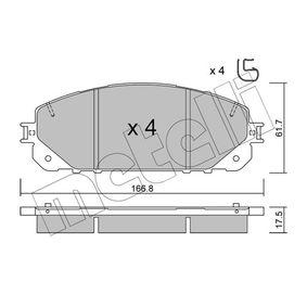 Bremsbelagsatz, Scheibenbremse Dicke/Stärke 1: 17,5mm mit OEM-Nummer 68212 327AB