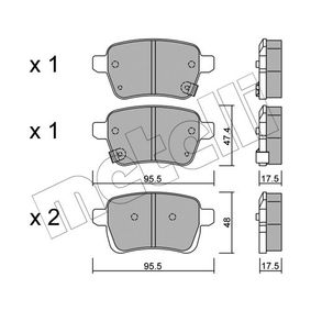 Bremsbelagsatz, Scheibenbremse Höhe 2: 48mm, Dicke/Stärke 1: 17,5mm mit OEM-Nummer 7 736 659 5