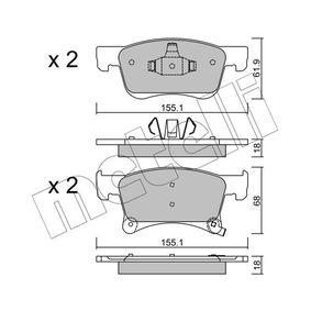 Bremsbelagsatz, Scheibenbremse Höhe 2: 68mm, Dicke/Stärke 1: 18,0mm mit OEM-Nummer 16 05 281