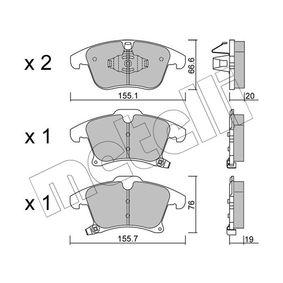 Bremsbelagsatz, Scheibenbremse Art. Nr. 22-1039-0 120,00€