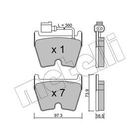 Brake Pad Set, disc brake Thickness 1: 16,5mm with OEM Number 8U0 698 151 J