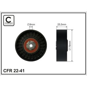Umlenkrolle Keilrippenriemen Ø: 78mm mit OEM-Nummer VX028145278EVX