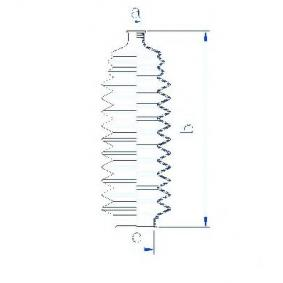 Bellow, steering Inner Diameter 2: 11mm, Inner Diameter 2: 43mm with OEM Number 48203-41B27
