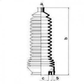 Joint-soufflet, direction 83851 SAFRANE 1 (B54) 3.0 V6 ac 1993