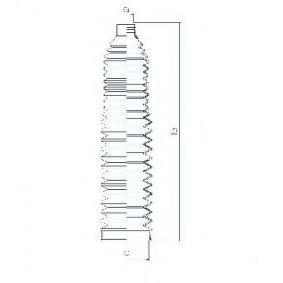 Bellow, steering Inner Diameter 2: 20mm, Inner Diameter 2: 63mm with OEM Number 8E0 419 831