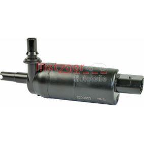Golf 7 1.4TSI Waschwasserpumpe, Scheinwerferreinigung METZGER 2220053 (1.4TSI Benzin 2013 CXSA)