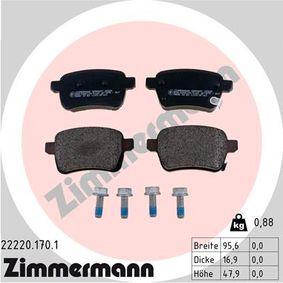 Bremsbelagsatz, Scheibenbremse Breite: 95,9mm, Höhe: 47,6mm, Dicke/Stärke: 16,8mm mit OEM-Nummer 7 736 659 5