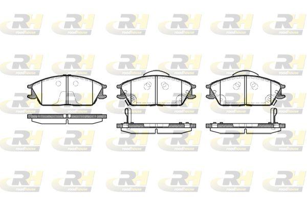 ROADHOUSE  2224.22 Bremsbelagsatz, Scheibenbremse Höhe: 49,1mm, Dicke/Stärke 1: 16mm, Dicke/Stärke 2: 15,6mm