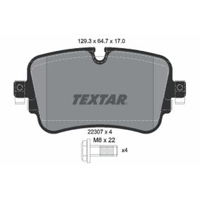 Brake Pad Set, disc brake Width: 129,3mm, Height: 64,7mm, Thickness: 17mm with OEM Number 4M0 698 451P