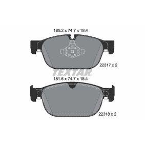 Bremsbelagsatz, Scheibenbremse Breite: 180,2mm, Höhe: 74,7mm, Dicke/Stärke: 18,4mm mit OEM-Nummer 31499906