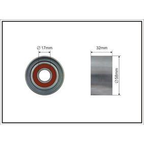 Tensioner Pulley, timing belt Ø: 58mm with OEM Number 24410-27-000