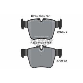 Bremsbelagsatz, Scheibenbremse Breite: 122,5mm, Höhe: 63,9mm, Dicke/Stärke: 16,1mm mit OEM-Nummer A 000 420 5900