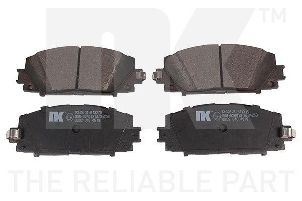 NK  2245104 Bremsbelagsatz, Scheibenbremse Breite 1: 122,70mm, Höhe 1: 49,80mm, Dicke/Stärke 1: 14,90mm
