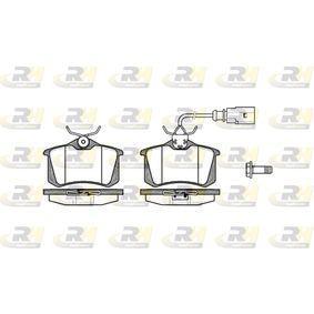 Bremsbelagsatz, Scheibenbremse Höhe: 52,9mm, Dicke/Stärke: 17mm mit OEM-Nummer 8D0 698 451 B
