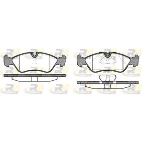 Bremsbelagsatz, Scheibenbremse Breite: 156,4mm, Höhe: 52,8mm, Dicke/Stärke 1: 17,3mm, Dicke/Stärke 2: 18,1mm mit OEM-Nummer 16 05 808
