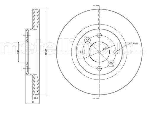 Bremsscheiben 23-0549C METELLI 23-0549C in Original Qualität