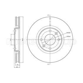Bremsscheibe Bremsscheibendicke: 26,0mm, Lochanzahl: 4, Ø: 282,7mm mit OEM-Nummer 4249-17