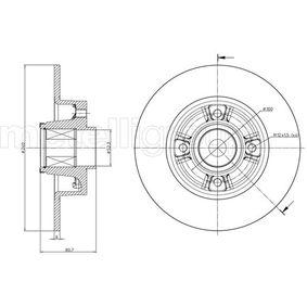 Bremsscheibe 23-0722 TWINGO 2 (CN0) 1.6 RS Bj 2014