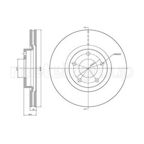 Brake Disc Brake Disc Thickness: 25,0mm, Num. of holes: 5, Ø: 300,0mm with OEM Number C26Y 33 25XB