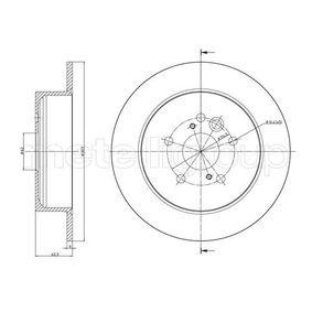 Brake Disc 23-0803C RAV 4 II (CLA2_, XA2_, ZCA2_, ACA2_) 2.0 D 4WD (CLA20_, CLA21_) MY 2001
