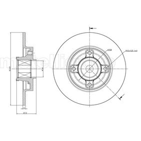 Bremsscheibe Bremsscheibendicke: 9,0mm, Lochanzahl: 4, Ø: 249,0mm mit OEM-Nummer 42.49.34