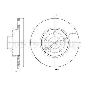 Bremsscheibe Bremsscheibendicke: 12,0mm, Lochanzahl: 5, Ø: 276,0mm mit OEM-Nummer A 169 421 0012