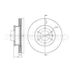 Bremsscheibe Bremsscheibendicke: 28,0mm, Lochanzahl: 6, Ø: 300,0mm mit OEM-Nummer 2 E06 153 01