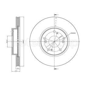 féktárcsa elsőtengely, Ø: 282mm, Szellőztetett, lakkozott 23-0932C