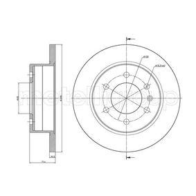 Bremsscheibe Bremsscheibendicke: 16,0mm, Lochanzahl: 5, Ø: 298,0mm mit OEM-Nummer 2E0615601A