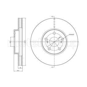 Disque de frein Epaisseur du disque de frein: 25,0mm, Nbre de trous: 5, Ø: 275,0mm avec OEM numéro 43512 20 710