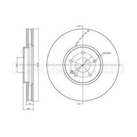 Bremsscheibe Bremsscheibendicke: 32,0mm, Lochanzahl: 5, Ø: 330,0mm mit OEM-Nummer 2104212312