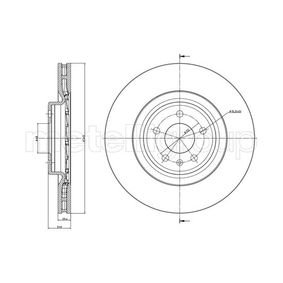 Brake Disc Brake Disc Thickness: 29,5mm, Num. of holes: 5, Ø: 345,0mm with OEM Number 8K0.615.301K